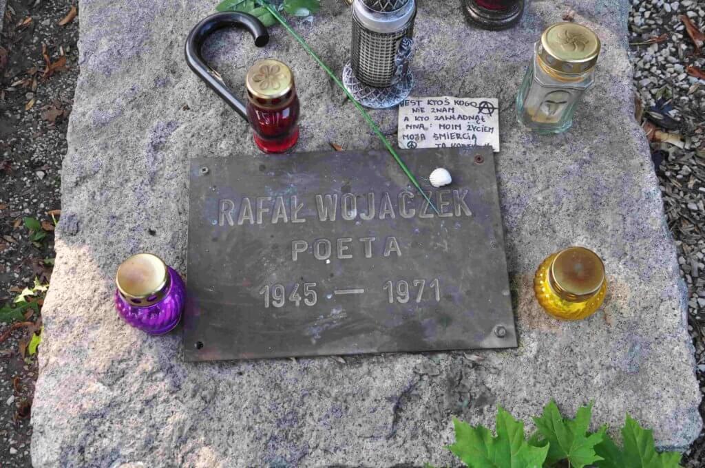 grób Rafała Wojaczka